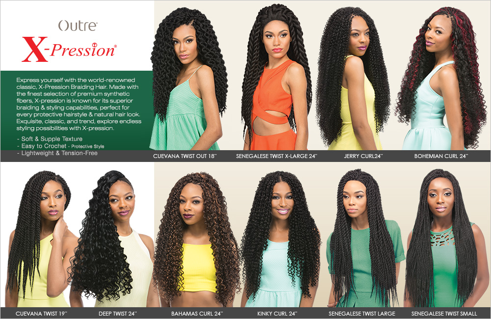 Outre Synthetic Hair Crochet Braids X,Pression Braids