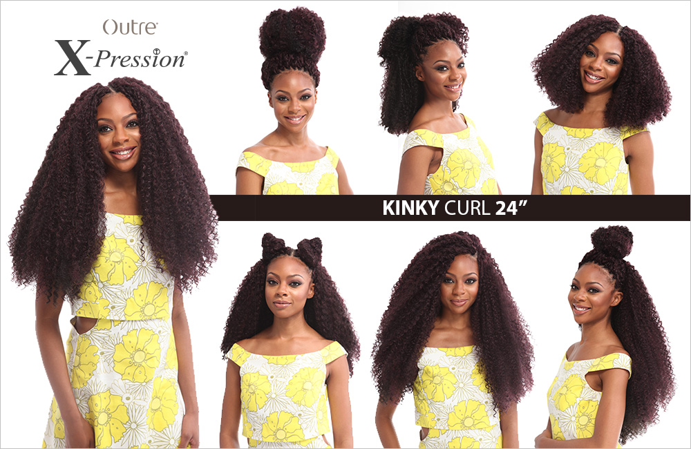 Outre Synthetic Hair Crochet Braids X Pression Braid Kinky Curl 24