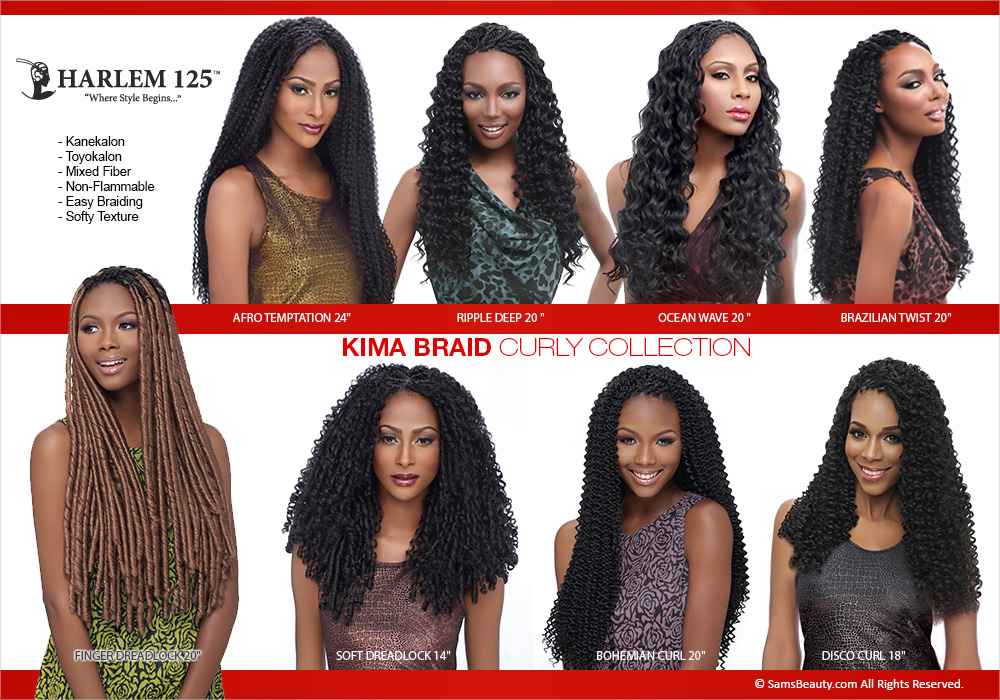 Harlem125 Synthetic Hair Braids Kima Braid Ocean Wave 20 Samsbeauty