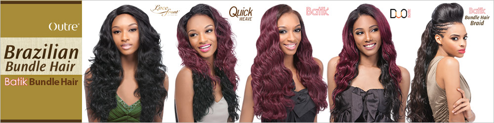 OUTRE Synthetic Hair Weave Batik Brazilian Bundle Hair