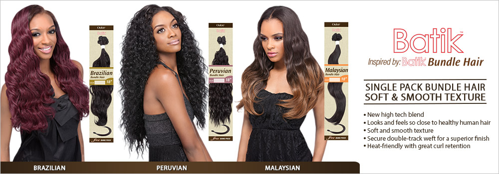 Outre Synthetic Hair Weave Batik Peruvian Bundle Hair Samsbeauty