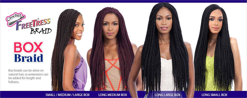 Freetress Crochet Box Braids : FreeTress Synthetic Hair Crochet Braids Box Braid Small 20 ...