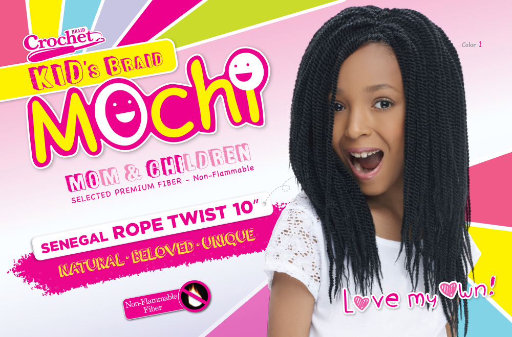 Harlem12 Synthetic Hair Crochet Braids Mochi Senegal Rope Twist ...