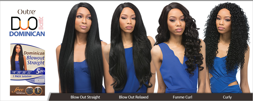 Outre Synthetic Hair Weave Batik Duo Dominican Blow Out Straight