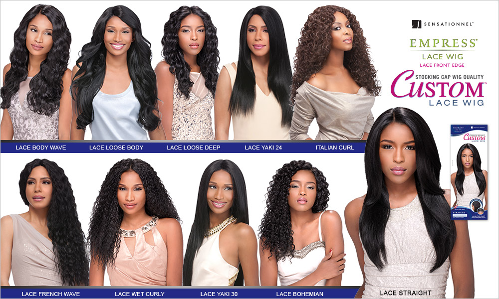 Sensationnel Synthetic Lace Front Wig Empress Edge Custom Lace Yaki