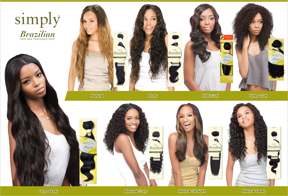 Outre Simply Non Processed Brazilian Human Hair Weave Natural