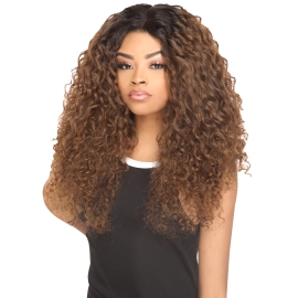 The Stylist Synthetic Lace Front Wig 4x4 Swiss Lace Silk Top Curly