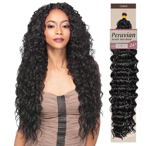 Crochet Hair Outre : Outre Synthetic Hair Braid Batik Braid Peruvian Bundle Hair 24 ...