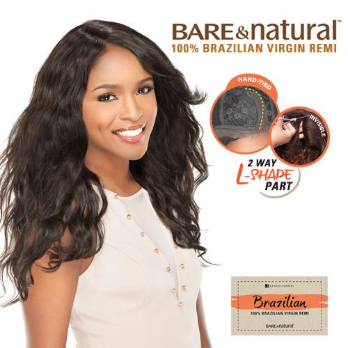 sensationnel unprocessed brazilian remy human hair lace wig bare