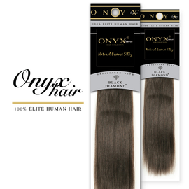 Human Hair Weave Black Diamond Onyx Essence Yaki