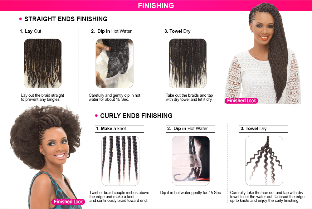 Synthetic Hair Braids Janet Collection Noir Afro Twist Braid