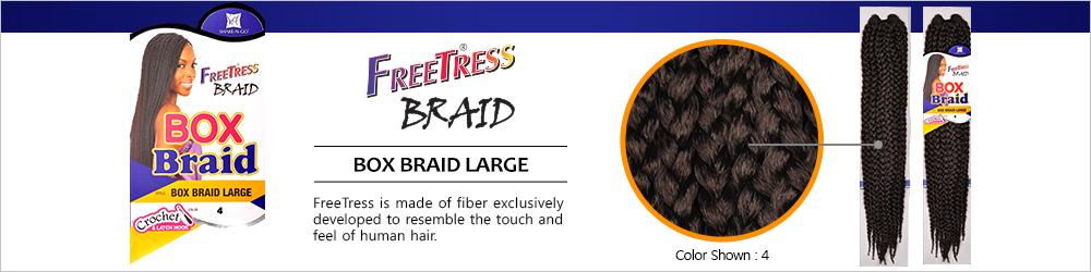 ... Synthetic Hair Crochet Braid Large Box Braids 20 - SamsBeauty