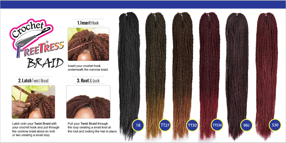Freetress Synthetic Hair Crochet Braids Micro Senegalese Twist Samsbeauty
