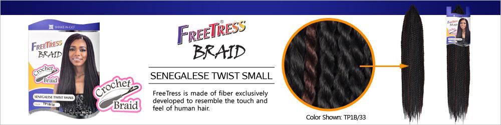 Freetress Synthetic Hair Crochet Braids Senegalese Twist Small