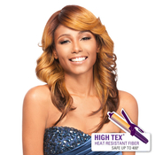 OUTRE Synthetic Hair Half Wig Quick Weave Complete Cap Morgan