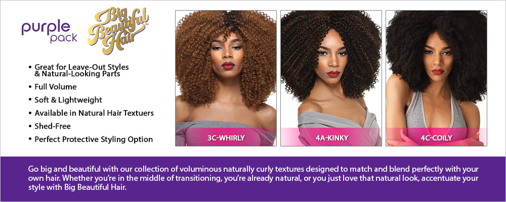 Outre Human Hair Blend Weave Premium Purple Pack 1 Pack Solution Big