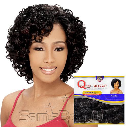 Human Hair Blend Weave Milky Way Que Shortcut Series Oprah