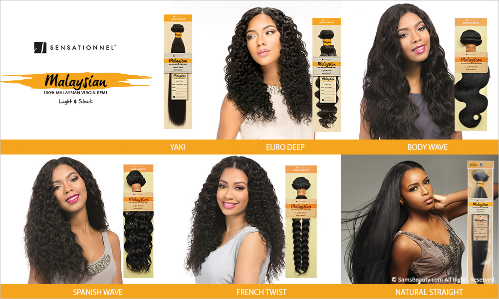Sensationnel Unprocessed Malaysian Virgin Remy Human Hair Weave Bare